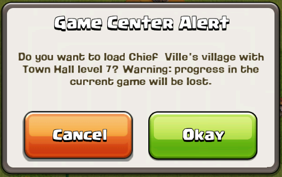 Clash of Clans Game Center Accounts For